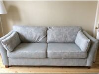 2 ALMOST BRAND NEW duck egg blue m&s sofas