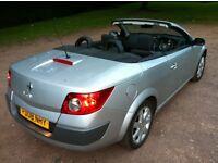 renault megane 1.6 vvt dynamique 08 reg silver cd player, electric windows, convertible power hood