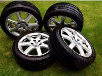 "Honda 17"" alloy wheels with tyres"
