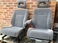 Nice velour seats with armrests camper sprinter transit motorhome great condition