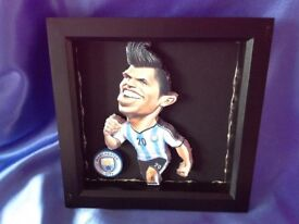 Man city Sergio Aguero Caricature