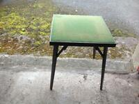 Sturdy folding card table