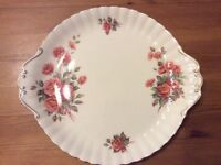Royal Albert Centennial Rose handled cake plate