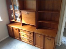 Attractive teak wall units - spacious storage and display