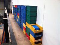 PLASTIC PARTS STORAGE STACKING BINS BOXES