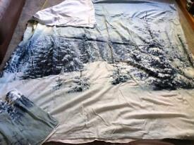 Winter / Christmas king size duvet set