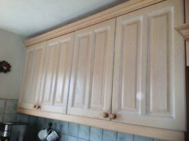 Solid Oak Limed Oak Kitchen Doors.