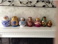 Collection of 7sets of RUSSIAN stacking dolls
