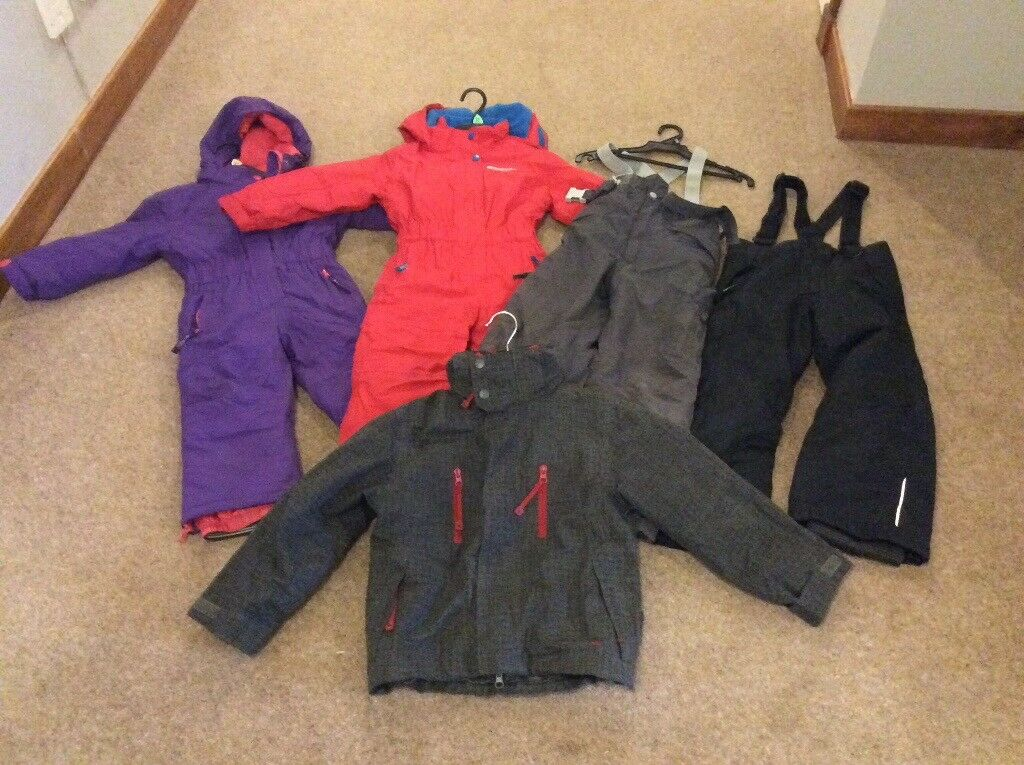 adc5ae8f9 Ski suits snow wear for Child age 2-3 years and 5-6 years salopettes ...