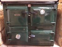 Solid fuel Rayburn 355 British racing green very good condition