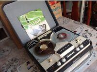 Vintage BUSH TP50 Tape Reel Player & Recorder. In case. Original Box. Manual. Lots of Tapes.