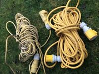 2 x extension cables ...110 v ideal for power tools