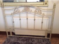 Wrought iron shabby cheek bed stead king size