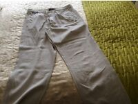 Two pairs of linen trousers