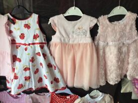 BABY GIRLS DRESS BUNDLE 6 - 9 MONTHS 8 ITEMS £15