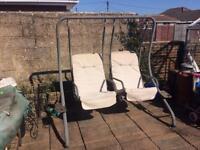 Two seater swinging hammock