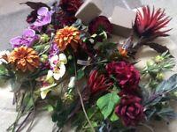 Assortment of Silk flowers