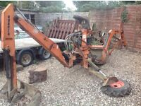 Front loader and back actor for a kubota b1750 tractor digger