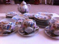 beautiful 23 piece japanese bone china tea /coffee set