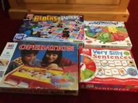 4 x board games - Operation, Blocks & Ladders, Go Go Dragons & Very Silly Sentences