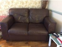 Small 2seater leather sofa