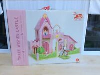 Le Toy Van Three Wishes Castle + Budkins Figure - NEW wooden play set