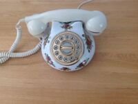 Old style Royal Albert telephone
