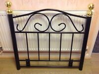 3ft single Victorian style metal head board brand new