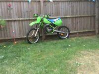 Kawasaki kx 100 big wheel running Not cr rm yz pit bike