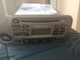 CD /Radio 6000CD RDS in silver with code and user manual for Ford KA.