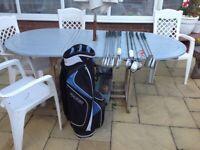 Golf equipment .. Quality golf bag plus full set of clubs plus balls tees.. (check photos).£65.
