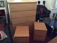 Large chest of draws and 2 bedside cabinets, could deliver