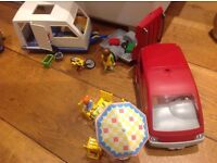 Playmobil Car and Caravan, Shop, Ice Cream Stall and Nature Reserve!