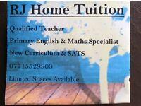 Tuition - private tutor - education - primary - KS1 & KS2 - SATs