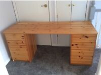 writing desk with 6 drawers.