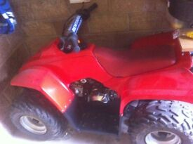 4stroke 50cc kids quad runs mint needs a battery and faulty wire on electric start
