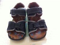 Start-Rite boys' navy leather sandals - UK infant size 5