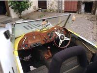 Rare kit car, GENTRY MGTF sports car, tax free fun, Triumph based