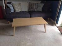 John Lewis real wood coffee table
