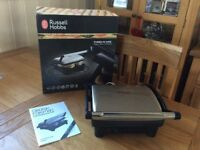 GEORGE FORMAN /RUSSEL HOBBS 3-in-1 PANINI-GRILL+ GRIDDLE.