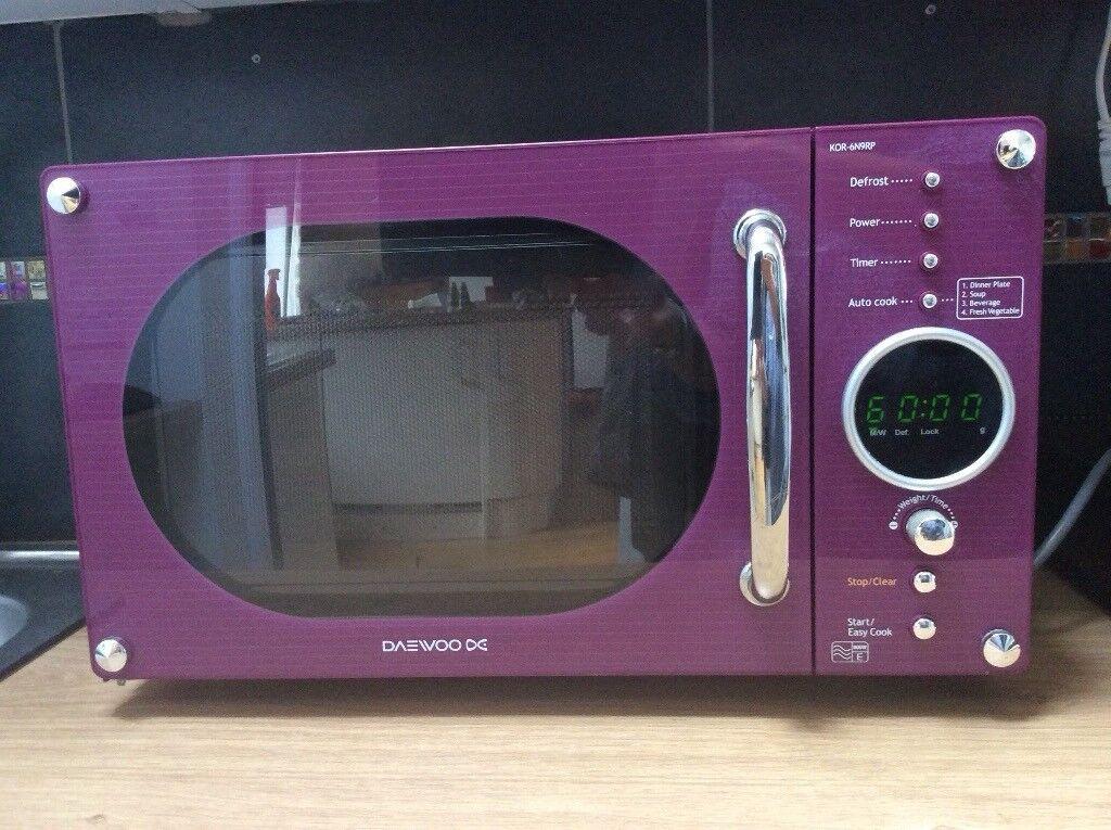 Purple Daewoo Microwave 800W E KOR-6N9RP   in Barry, Vale of ...