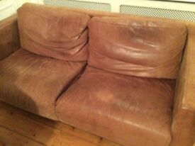 Brown leather sofa for sale