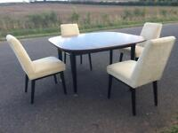 G plan dining table and 4 upholstered chairs - It's stunning!