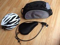 Bike accessories pannier bag helmet lock seat cover
