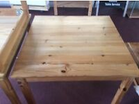 Pine dining table from Ikea