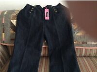 Ladies high waisted jeans size 16 petite
