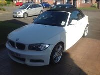 BMW 123 d convertible in white with black Boston leather. excellent condition with FSH (BMW).