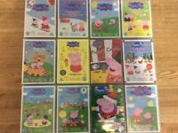 A fantastic collection of Peppa Pig DVDs! 4 X Triple Disc Sets, 8 X Single Discs.