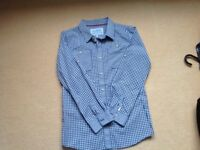 Joules boys shirt age 11- 12, blue check