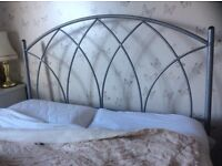 Headboard and matching tall free standing mirror
